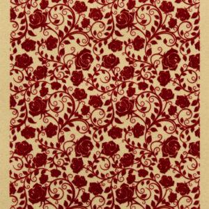 Samettikuvioinen kartonki Roses