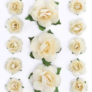 Paperikukka Ruusu, liimattava