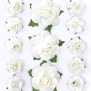 Paberlill Roosid,valge kleebitav
