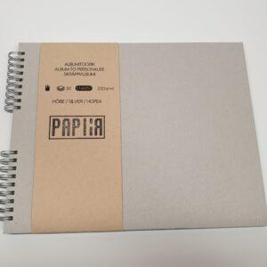 Albumi toorik 21,6×28,7cm Hõbe