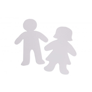 papist kujundid poiss ja tüdruk